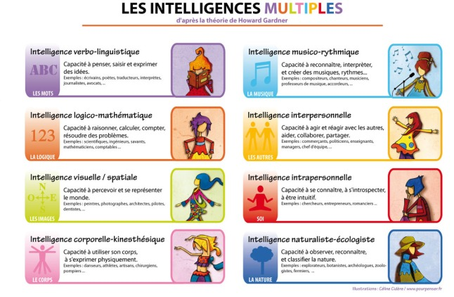 Les 8 intelligences multiples